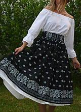 Sukne - Suknica Bordúra Folk midi - 10829126_