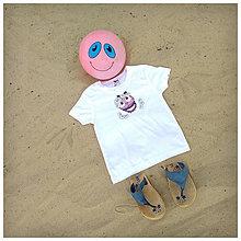 Detské oblečenie - Detské tričko - OčiPuči Margarétka v bielom - 10829110_