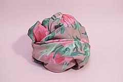 Textil - Gázovinová prikrývka/Šál Olejové pivónie - Ružová - 10828137_