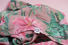 Textil - Gázovinová prikrývka/Šál Olejové pivónie - Ružová - 10828139_