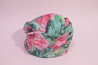 Textil - Gázovinová prikrývka/Šál Olejové pivónie - Zelená - 10828143_