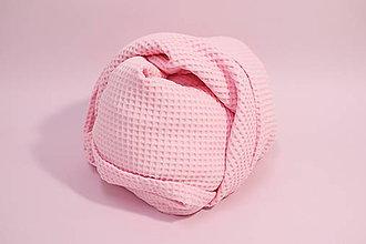 Textil - Vaflová prikrývka - Ružová - 10828250_