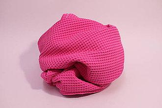 Textil - Vaflová prikrývka - Fuchsia - 10828254_