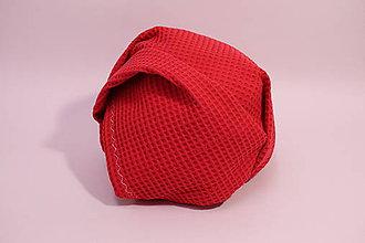 Textil - Vaflová prikrývka - Červená - 10828262_