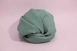Textil - Vaflová prikrývka - Tmavozelená - 10828283_