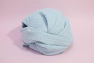 Textil - Vaflová prikrývka - Bledomodrá - 10828285_