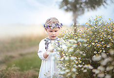 Detské doplnky - Detský kvetinový venček - 10828842_