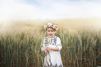 Detské doplnky - Detský kvetinový venček - 10828742_