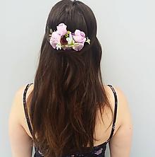 """Ozdoby do vlasov - Kvetinový hrebienok """"In love"""" - 10828735_"""