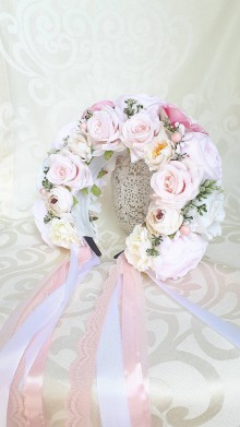 Ozdoby do vlasov - Bledunko ružová parta - 10828110_