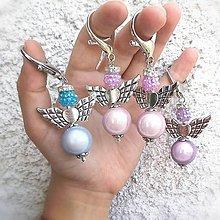 Iné šperky - Mega anjel (Fialová) - 10829303_