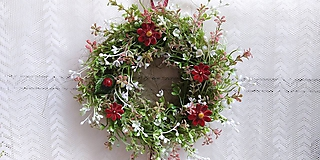 Dekorácie - Veniec... kvety keramické - 10828590_