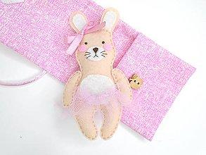 Hračky - Drobnosti v kapsičke pre dievčatá (Zajačica) - 10829378_