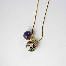 Náhrdelníky - Tana šperky - keramika/zlato - 10828129_