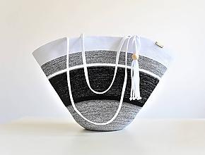 Kabelky - Letní kabelka černobílá 2007 - 10829261_