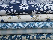 Úžitkový textil - Čučoriedková - Čiapočky na zaváraniny - sada modrá - 10830431_