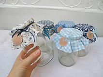 Úžitkový textil - Čučoriedková - Čiapočky na zaváraniny - sada modrá - 10830450_