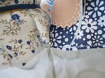 Úžitkový textil - Čučoriedková - Čiapočky na zaváraniny - sada modrá - 10830461_