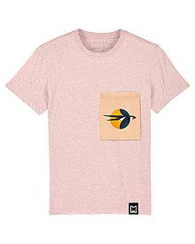 Tričká - Detské Tričko - Pink Swallow Pocket - 10828404_