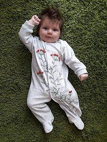 Detské oblečenie - Novorodenecké dupačky s rebríčkom - 10829221_