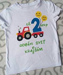 Detské oblečenie - Narodeninové tričko - 10830194_