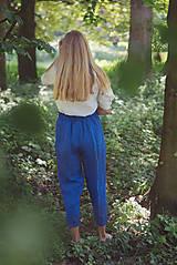 Nohavice - miljö ľanové nohavice - blå - 10830086_