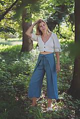 Nohavice - miljö ľanové nohavice - swaddle - 10830105_