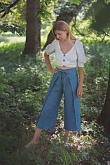 Nohavice - miljö ľanové nohavice - swaddle - 10830107_