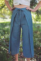 Nohavice - miljö ľanové nohavice - swaddle - 10830108_