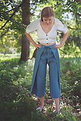 Nohavice - miljö ľanové nohavice - swaddle - 10830110_