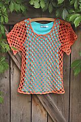 Detské oblečenie - háčkované tričko - 10829787_