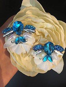 Náušnice - Náušnice - Blue ballerina - 10828004_