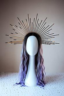 Ozdoby do vlasov - Zlatá čelenka