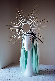 """Ozdoby do vlasov - Čelenka """"Glitter Halo crown"""" strieborná - 10829710_"""
