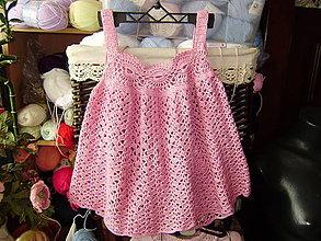 Detské oblečenie - Háčkované detské šatočky - 10830236_