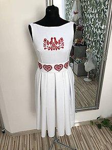 Šaty - Biele šaty Folk - 10829013_