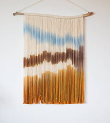 """Dekorácie - Nástenná dekorácia z dreva a vlny """"V kráľovstve piesočných dún"""" - 10828767_"""