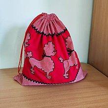 Detské tašky - Vak na hračky (Pudlíci) - 10827947_