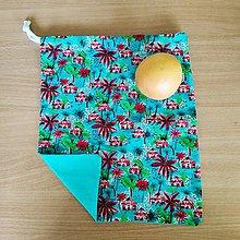 Úžitkový textil - Zero Waste Rôznostranné vrecúško (Hawaii) - 10827982_