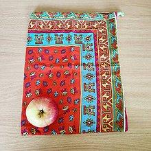 Úžitkový textil - Zero waste vrecúško (Indiánske) - 10827991_