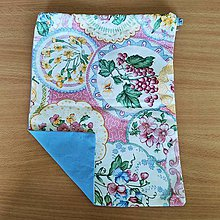 Úžitkový textil - Zero Waste Rôznostranné vrecúško (Hrozno) - 10827993_