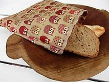 Úžitkový textil - voskované vrecko-sova - 10830539_