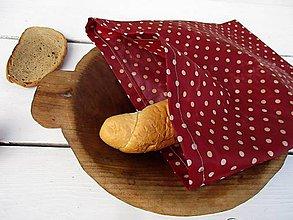 Úžitkový textil - voskované vrecko-bodka - 10830181_