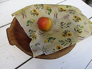 Úžitkový textil - voskovaný obrúsok-slnečnice - 10830358_
