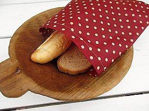 Úžitkový textil - desiatové voskované vrecko-bodka - 10830365_
