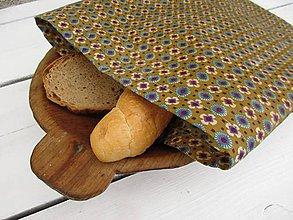 Úžitkový textil - veľké voskované vrecko-hnedá - 10830472_