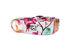 Pre zvieratká - Obojok Flowers Pink - 10828532_