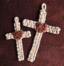 Kľúčenky - Pletený krížik - 10829611_