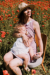- Šaty na dojčenie-LEVANDUĽOVÉ SRDCE - 10829749_