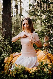 Tričká - Tričko na dojčenie-RUŽOVKASTÝ ŽIVOT (Dlhý/krátky rukáv) - 10829691_